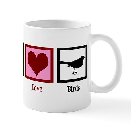 Peace Love Birds Mug