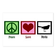 Peace Love Birds Postcards (Package of 8)