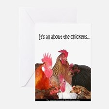 """It's all...Chickens..."" Greeting Cards (Package o"