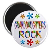 Granddaughter Round Magnets