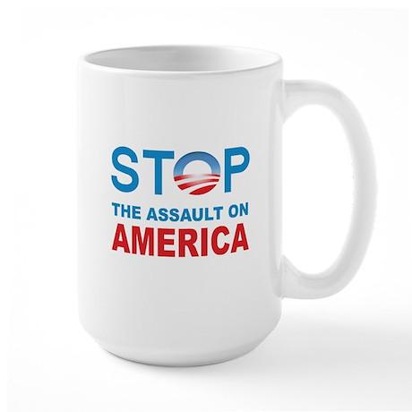 Stop The Assaut On America Large Mug