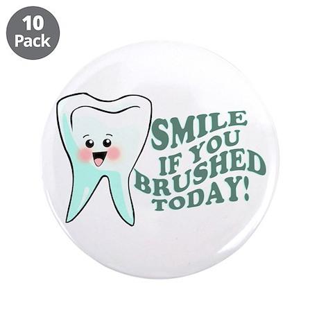 """Dentist Dental Hygienist 3.5"""" Button (10 pack)"""