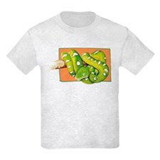 Green Tree Boa Kids T-Shirt