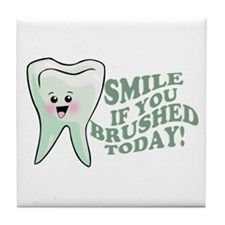 Funny Dentist Humor Tile Coaster