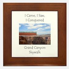 Grand Canyon Skywalk Survivor Framed Tile