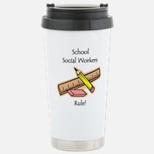 Social Workers Rule Travel Mug