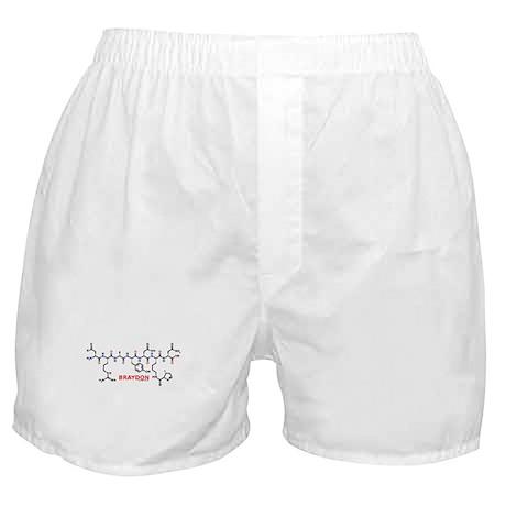 Braydon name molecule Boxer Shorts
