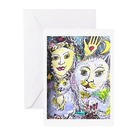 Cats and Gypsy Greeting Cards (Pk of 10)