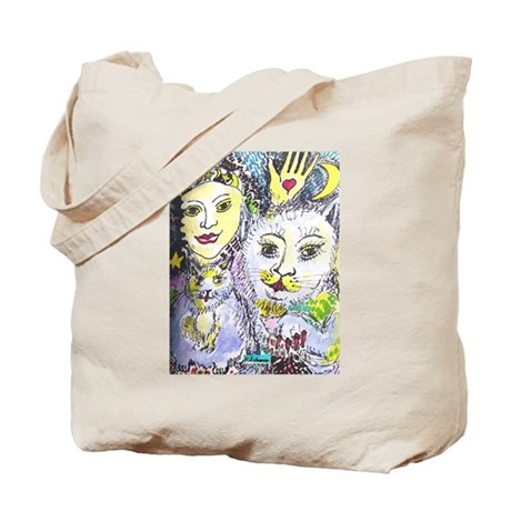 Cats and Gypsy Schiavo Print Tote Bag