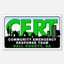CERT 3x5 Sticker for Hall County, GA