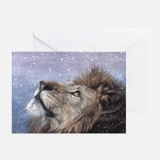 Winter Lion Greeting Card
