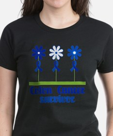Colon Cancer Survivor (flowered) T-Shirt