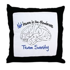 Rally restore sanity Throw Pillow