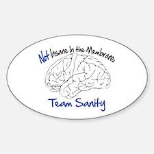 Funny Rally restore sanity Sticker (Oval)
