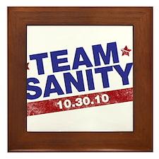 Rally to restore sanity Framed Tile