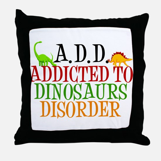 Funny Dinosaur Throw Pillow