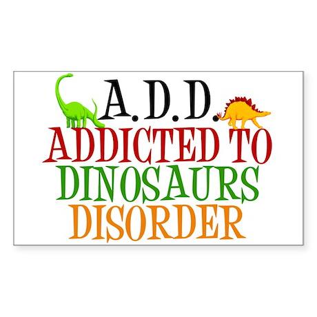 Funny Dinosaur Sticker (Rectangle)