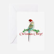 Christmas Budgie Greeting Card