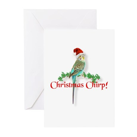 Christmas Budgie Greeting Cards (Pk of 10)