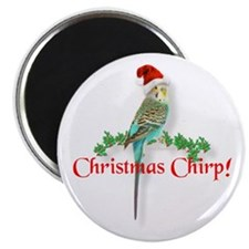 Christmas Budgie Magnet