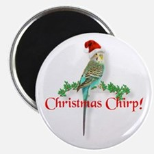 Christmas Budgie Magnet