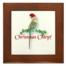 Christmas Budgie Framed Tile