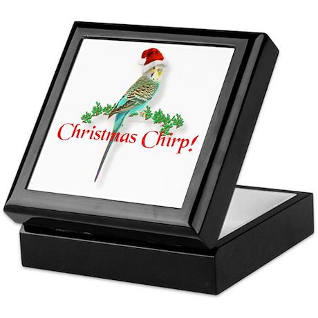 Christmas Budgie Keepsake Box