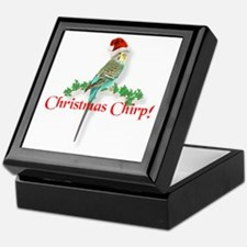 Christmas Budgie Keepsake Box