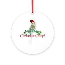 Christmas Budgie Ornament (Round)