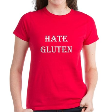 HATE GLUTEN Women's Dark T-Shirt