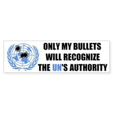 UN Bullet Bumper Sticker
