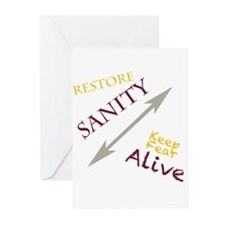 Rally to restore sanity Greeting Cards (Pk of 10)
