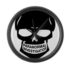 Paranormal Investigator Large Wall Clock