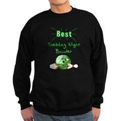 Best Tuesday Night Bowler Sweatshirt (dark)