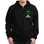 Best Wednesday Night Bowler Zip Hoodie (dark)
