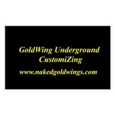 GoldWing Shop #UnderGround Rectangle Decal