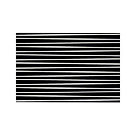 B&W Retro Lines 2 Rectangle Magnet (10 pack)