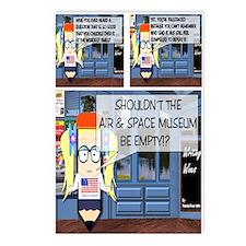Pondering Air/Space Museum Postcards (Package of 8