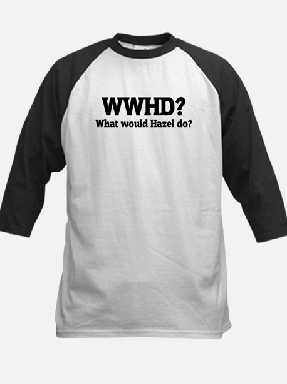 What would Hazel do? Kids Baseball Jersey