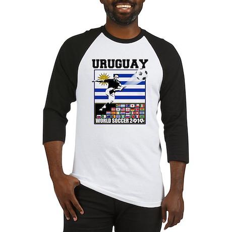 Uruguay World Soccer Futbol Baseball Jersey