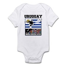 Uruguay World Soccer Futbol Infant Bodysuit