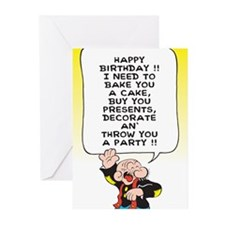 Snuffy Birthday Greeting Cards (Pk of 10)