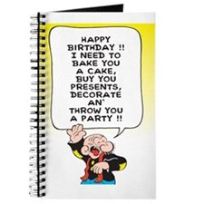 Snuffy Birthday Journal