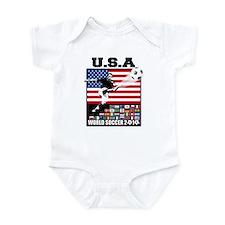 USA World Soccer Infant Bodysuit