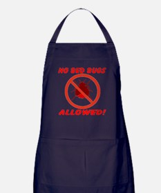 No Bed Bugs Allowed! Apron (dark)