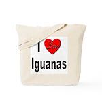 I Love Iguanas Tote Bag