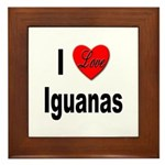 I Love Iguanas Framed Tile