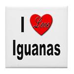 I Love Iguanas Tile Coaster
