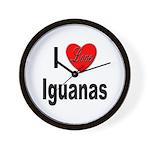 I Love Iguanas Wall Clock