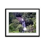 Waterfall Framed Panel Print